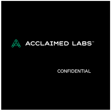 Acclaimed Labs - Predictive Analytics